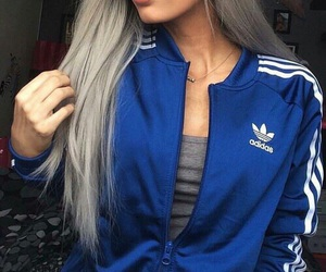 adidas, hair, and outfit image