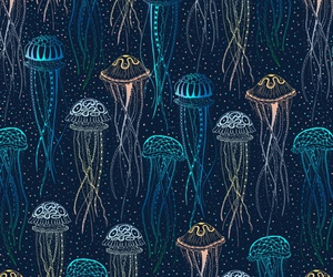 background, jellyfish, and pattern image