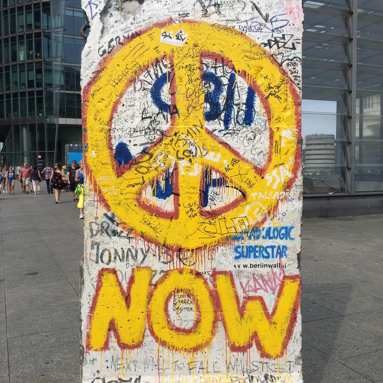 PEACE NOW, Berlin Wall, Potsdamer Platz | via @chelseapearl ...