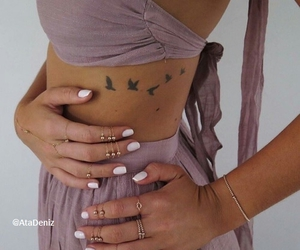 bracelet, nails, and Tattoos image