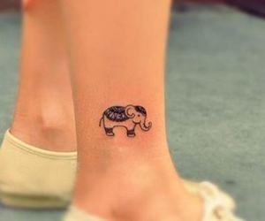 elephant, tattoo, and tatuaje elefante image