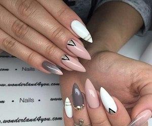 chic, pretty, and nails polish image