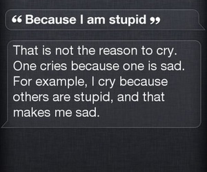 siri, iphone, and cry image
