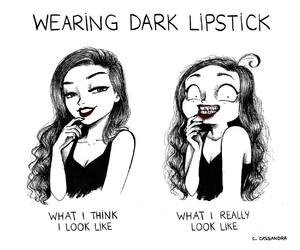 funny and lipstick image