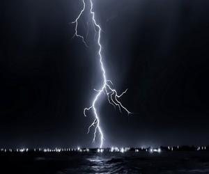 lightning, night, and wallpaper image