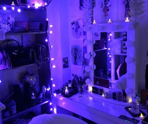 purple, light, and room image