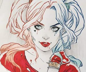 harley quinn, draw, and illustration image