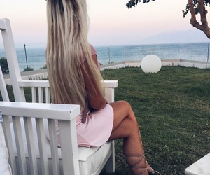 blond, Greece, and hair image