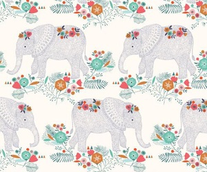 background, elephant, and pattern image
