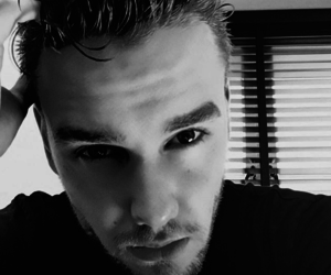 liam payne, black and white, and one direction image