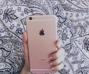 gold, iphone gold, and love image