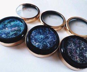 makeup, galaxy, and beauty image