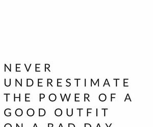 quote and outfit image