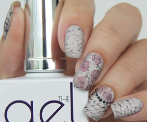 floral, flowers, and nail art image