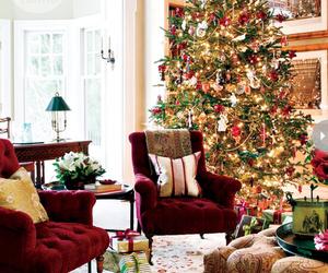 christmas, december, and tree image