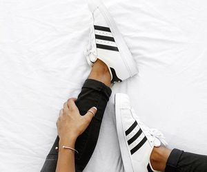 adidas, fashion, and black and white image