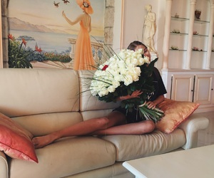 flowers, girl, and goals image
