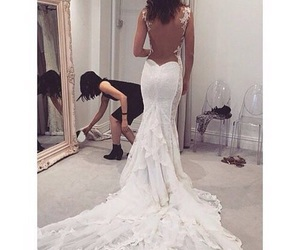 girl, nice, and wedding dress image