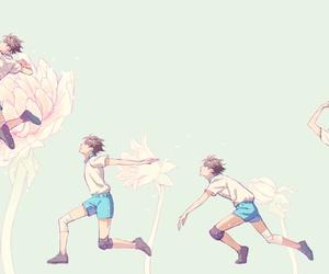 haikyuu, flowers, and manga image
