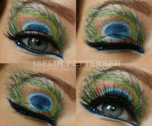 beautiful, makeup, and colorful image