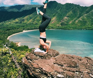 beautiful, view, and headstand image