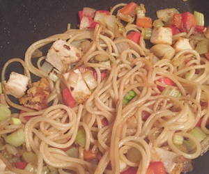 Chicken, pepper, and onion image