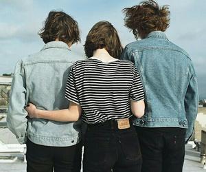 friendship, stripes, and denim image