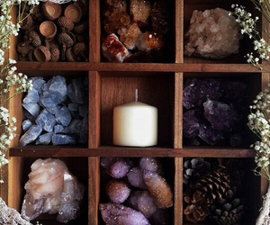 candle and crystal image