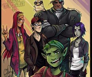 teen titans, big hero 6, and cyborg image