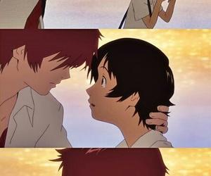 anime, couple, and toki wo kakeru shoujo image