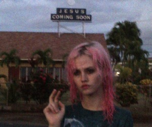 girl, grunge, and pink hair image