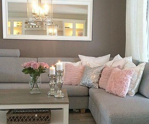 home, pink, and house image