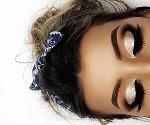 eyebrows, eyelashes, and eyeliner image