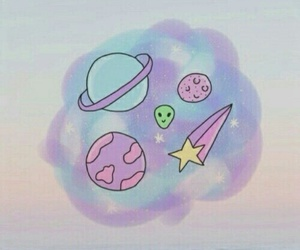 wallpaper, planet, and pink image