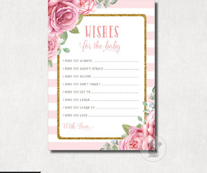 etsy, shabby chic, and pink and gold image