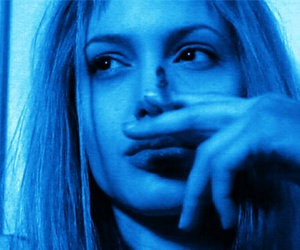 Angelina Jolie and smoke image