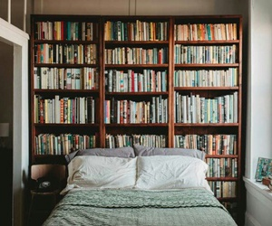 book, bedroom, and room image