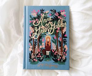 anne of green gables, book, and floral image