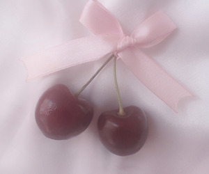 cherries, pale, and pink image
