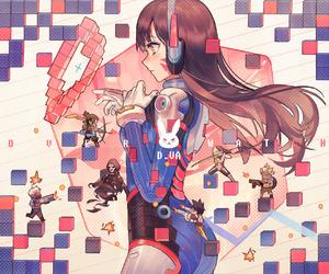 overwatch and anime girl image