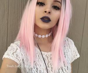 bob, pink hair, and short hair image