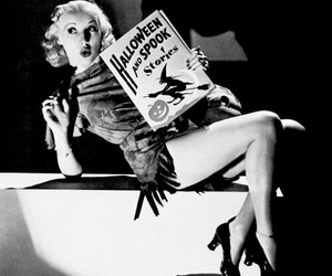 Halloween, vintage, and Betty Grable image