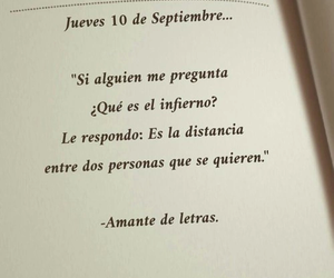 distancia, infierno, and amor image