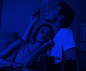 love, couple, and smoke image