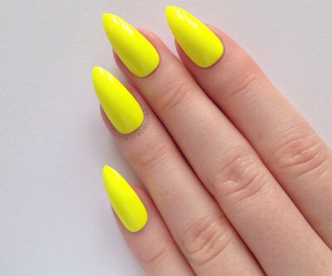 nails, yellow, and nail polish image