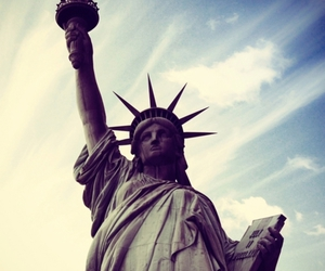 new york, america, and statue image