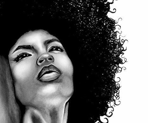 Afro, natural hair, and art image