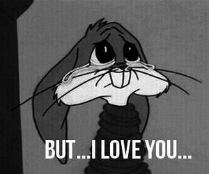 love, sad, and bunny image