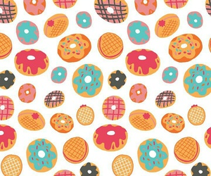 background, donut, and pattern image