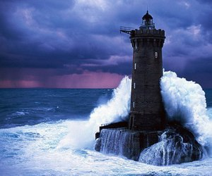sea, lighthouse, and ocean image